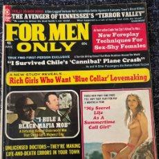 Coleccionismo de Revistas y Periódicos: FOR MEN ONLY MAGAZINE VOL. 20 Nº 6 JUNE 1973. Lote 277180968