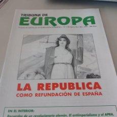 Colecionismo de Revistas e Jornais: REVISTA TRIBUNA DE EUROPA, NÚM.3 2ª EPOCA NOV. 1995 ALTERNATIVA EUROPEA. REF UR EST. Lote 277239408