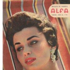 Coleccionismo de Revistas y Periódicos: REVISTA DE LABORES ALFA. Nº 56. VERANO, 1958. CARMEN SEVILLA. (P/B60).. Lote 277265048