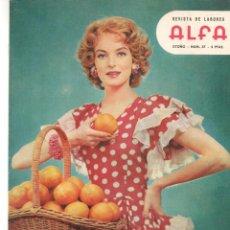 Coleccionismo de Revistas y Periódicos: REVISTA DE LABORES ALFA. Nº 57. OTOÑO, 1958. LA MODA EN HOLLYWOOD. (P/B60).. Lote 277265463
