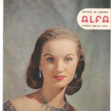 Coleccionismo de Revistas y Periódicos: REVISTA DE LABORES ALFA. Nº 58. INVIERNO, 1958. LA MODA EN HOLLYWOOD. (P/B60).. Lote 277265673
