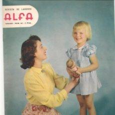 Coleccionismo de Revistas y Periódicos: REVISTA DE LABORES ALFA. Nº 64. RITA HAYWORTH / BODA PRINCESA MARGARITA. VERANO, 1960. (P/B60). Lote 277268018
