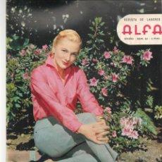 Coleccionismo de Revistas y Periódicos: REVISTA DE LABORES ALFA. Nº 65. JOANNA MOORE / MODA: EL HOMBRE ELEGANTE. OTOÑO, 1960. (P/B60). Lote 277268478