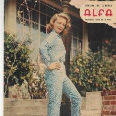 Coleccionismo de Revistas y Periódicos: REVISTA DE LABORES ALFA. Nº 66. JAYNE MANSFIELD / MODA EN NORTEAMÉRICA. INVIERNO, 1960. (P/B60). Lote 277268993