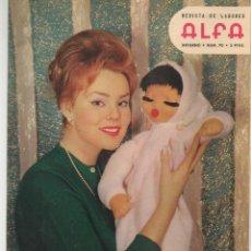 Coleccionismo de Revistas y Periódicos: REVISTA DE LABORES ALFA. Nº 70. MODA. LAS PIELES. INVIERNO, 1961. (P/B60). Lote 277273568
