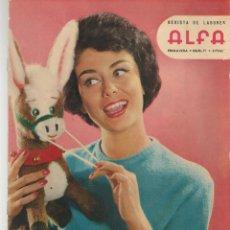 Coleccionismo de Revistas y Periódicos: REVISTA DE LABORES ALFA. Nº 71. GINA LOLLOBRIGIDA. PRIMAVERA, 1962. (P/B60). Lote 277274143