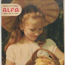 Coleccionismo de Revistas y Periódicos: REVISTA DE LABORES ALFA. Nº 72. SOMBREROS. VERANO, 1962. (P/B60). Lote 277274453