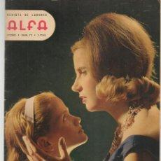 Coleccionismo de Revistas y Periódicos: REVISTA DE LABORES ALFA. Nº 73. ABRIGOS. OTOÑO, 1962. (P/B60). Lote 277274803