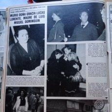 Coleccionismo de Revistas y Periódicos: GRACIA LUCAS LORENTE ABUELA DE MIGUEL BOSE. Lote 277477453