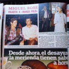 Coleccionismo de Revistas y Periódicos: MIGUEL BOSE MARCO POLO KEN MARSHALL. Lote 277478783