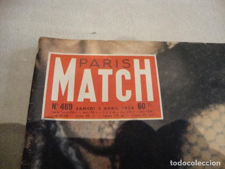 Coleccionismo de Revistas y Periódicos: REVISTA PARIS MATCH Nº 469 DE 1958 - Foto 2 - 277549848