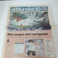 """Coleccionismo de Revistas y Periódicos: SUPLEMENTO DE """"EL PERIODICO"""" EL MUNDIAL 90. Lote 277594268"""