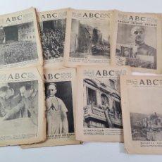 Coleccionismo de Revistas y Periódicos: RV-238. LOTE DE 8 DIARIOS ABC AÑO 1939.. Lote 277612488