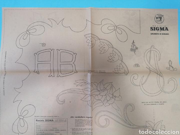 Coleccionismo de Revistas y Periódicos: Revista Sigma n°26 0toño 1962 Con Suplemento de Bordados - Foto 6 - 277683068