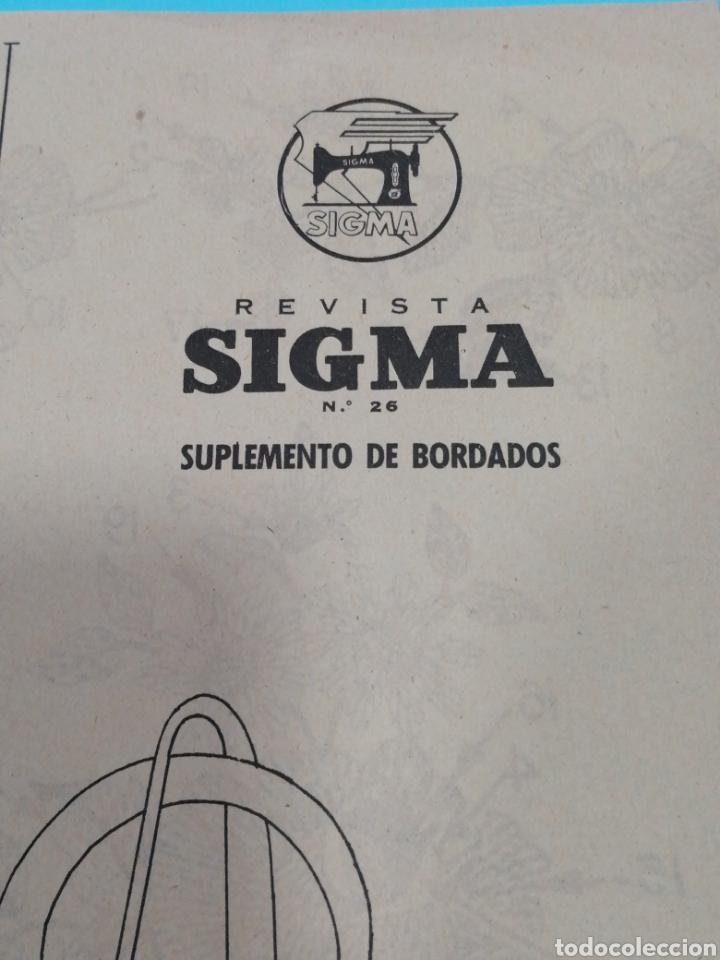 Coleccionismo de Revistas y Periódicos: Revista Sigma n°26 0toño 1962 Con Suplemento de Bordados - Foto 7 - 277683068