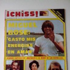Collectionnisme de Revues et Journaux: REVISTA ¡CHISS! AÑO 1978 Nº 117 MIGUEL BOSE POSTER EL ROBOT DE LAS RUEDAS VOLADORAS MAZINGER-Z. Lote 278426283