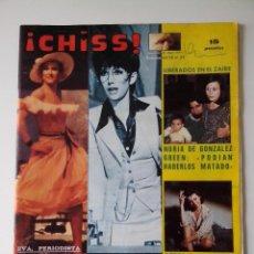 Collectionnisme de Revues et Journaux: REVISTA ¡CHISS! AÑO 1977 Nº 61 VICTORIA VERA BEATRIZ ESCUDERO SANDRA ALBERTI. Lote 278426588