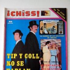 Collectionnisme de Revues et Journaux: REVISTA ¡CHISS! AÑO 1978 Nº 111 TIP Y COLL JOSE VELEZ POSTER SANDRO GIACOBBE. Lote 278426878