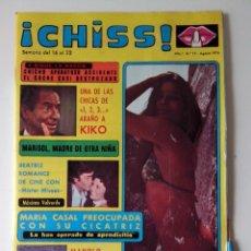 Collectionnisme de Revues et Journaux: REVISTA ¡CHISS! AÑO 1976 Nº 22 Mª CASAL Mª OTERO MARISOL POSTER DE NIEVES SALCEDO. Lote 278427923