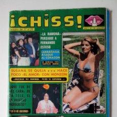 Collectionnisme de Revues et Journaux: REVISTA ¡CHISS! AÑO 1976 Nº 18 LA RAMONA LARRAÑAGA Mª BEATRIZ MAYRA POSTER DE CLEO. Lote 278428103