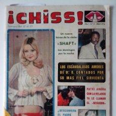 Collectionnisme de Revues et Journaux: REVISTA ¡CHISS! AÑO 1976 Nº 5 SHAFT JENNIE CLARE EL PADRE BRWN POSTER DE SUSANA ESTRADA. Lote 278429168