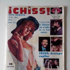 Collectionnisme de Revues et Journaux: REVISTA ¡CHISS! AÑO 1976 Nº 1 UN DOS TRES VICTORIA VERA PERICO FDEZ POSTER DE MARCIA BELL. Lote 278429433