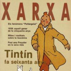 Collectionnisme de Revues et Journaux: TINTIN 60 AÑOS - REVISTA XARXA N. 14 ENERO 1989. Lote 278561578