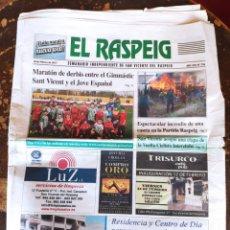 Coleccionismo de Revistas y Periódicos: EL RASPEIG, SEMANARIO INDEPENDIENTE DE SAN VICENTE DEL RASPEIG N° 736 (10 DE FEBRERO DE 2017). Lote 278572248
