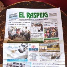 Coleccionismo de Revistas y Periódicos: EL RASPEIG, SEMANARIO INDEPENDIENTE DE SAN VICENTE DEL RASPEIG N° 762 (22 DE SEPTIEMBRE DE 2017). Lote 278572453
