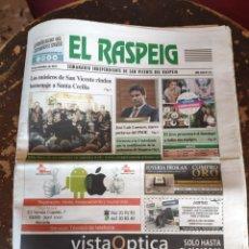 Coleccionismo de Revistas y Periódicos: EL RASPEIG, SEMANARIO INDEPENDIENTE DE SAN VICENTE DEL RASPEIG N° 771 (24 DE NOVIEMBRE DE 2017). Lote 278572633