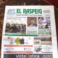 Coleccionismo de Revistas y Periódicos: EL RASPEIG, SEMANARIO INDEPENDIENTE DE SAN VICENTE DEL RASPEIG N° 771 (24 DE NOVIEMBRE DE 2017). Lote 278572723