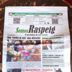 Coleccionismo de Revistas y Periódicos: SOMOS RASPEIG, EL PERIÓDICO DE SAN VICENTE DEL RASPEIG N° 7 (SEPTIEMBRE 2020). Lote 278573018