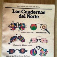 Coleccionismo de Revistas y Periódicos: LOS CUADERNOS DEL NORTE 43 JULIO 1987... POSTMODERNIDAD, UMBERTO ECO, LYOTARD, BLUE VELVET. Lote 278574578
