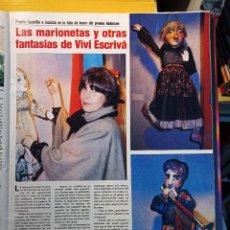 Coleccionismo de Revistas y Periódicos: LAS MARIONETAS DE VIVI ESCRIVA. Lote 278640108