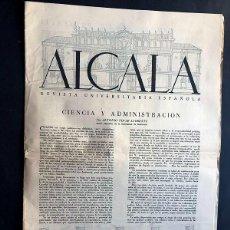 Coleccionismo de Revistas y Periódicos: ALCALÁ / Nº 2 ( 1952 ) REVISTA UNIVERSITARIA ESPAÑOLA. Lote 278814828