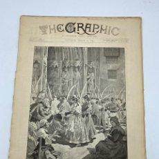 Coleccionismo de Revistas y Periódicos: THE GRAPHIC. AN ILLUSTRATED WEEKLY NEWSPAPER. Nº 1269. 24 DE MARZO, 1894. VER. Lote 278881023