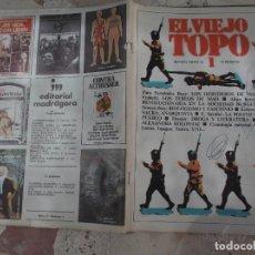 Coleccionismo de Revistas y Periódicos: EL VIEJO TOPO, Nº 1, DOSSIER DROGA Y LITERATURA, BIOLOGISMO Y FASCISMO, PRENSA REVOLUCIONARIA. Lote 278920438