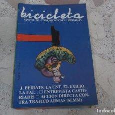 Coleccionismo de Revistas y Periódicos: BICICLETA, COMUNICACION LIBERTARIA, Nº 10J.PEIRATS: LA CNT ,EL EXILIO, LA FAI, ACCION DIRECTA CONTRA. Lote 278924718