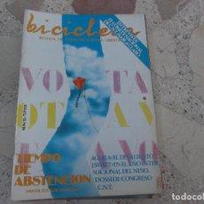 Coleccionismo de Revistas y Periódicos: BICICLETA, COMUNICACION LIBERTARIA, Nº 13, AGORA: EL DESALIENTO, TIEMPO DE ABSTENCION, CNT CONGRESO. Lote 278925283