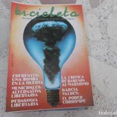 Coleccionismo de Revistas y Periódicos: BICICLETA, COMUNICACION LIBERTARIA, Nº 14, COFRENTES: UNA BOMBA EN LA HUERTA, ALTERNATIVA LIBERTARIA. Lote 278925528