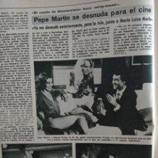 Colecionismo de Revistas e Jornais: PEPE MARTIN RAQUEL EVANS. Lote 278947178