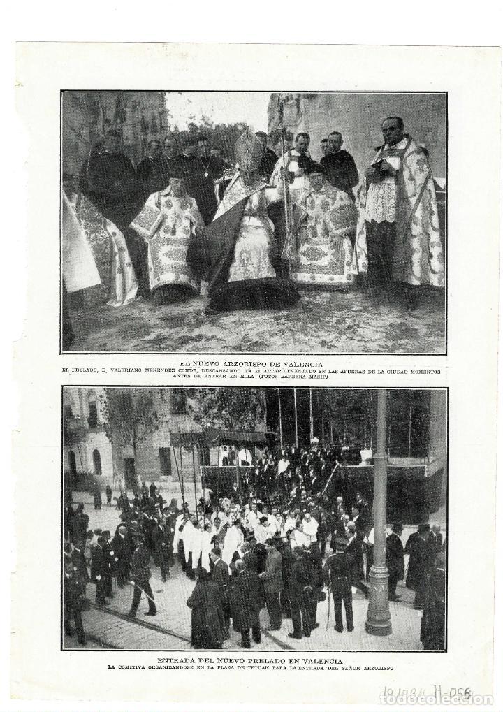 VALENCIA 1914 NUEVO ARZOBISPO HOJA REVISTA (Coleccionismo - Revistas y Periódicos Antiguos (hasta 1.939))