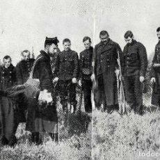Coleccionismo de Revistas y Periódicos: BELGICA 1914 EL ULTIMO HOMENAJE A UN COMPAÑERO 2 HOJAS REVISTA. Lote 279425248