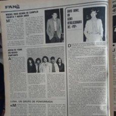 Coleccionismo de Revistas y Periódicos: ASFALTO LUNA MIGUEL RIOS DAVID BOWIE. Lote 279568723