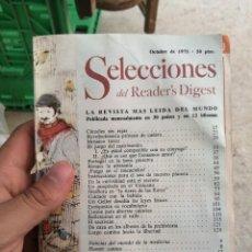 Coleccionismo de Revistas y Periódicos: REVISTA SELECCIONES DEL READER'S DIGEST READERS OCTUBRE AÑO 1975 N° 419. Lote 279796413