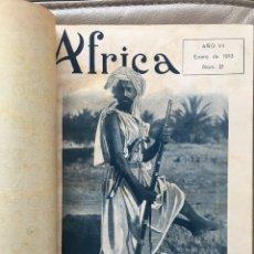 Coleccionismo de Revistas y Periódicos: ÁFRICA: REVISTA ESPAÑOLA ILUSTRADA. 1913-1914. 22 NÚMEROS. ANY 1913 COMPLET I DEL 1914 FALTA UN Nº. Lote 280250898