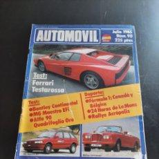 Coleccionismo de Revistas y Periódicos: AUTOMÓVIL. Lote 280794953