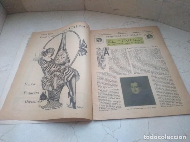 Coleccionismo de Revistas y Periódicos: Antiguo LEsquella de la Torratxa.Dedicado al teatro Tivoli. Mayo 1919. - Foto 2 - 280866333