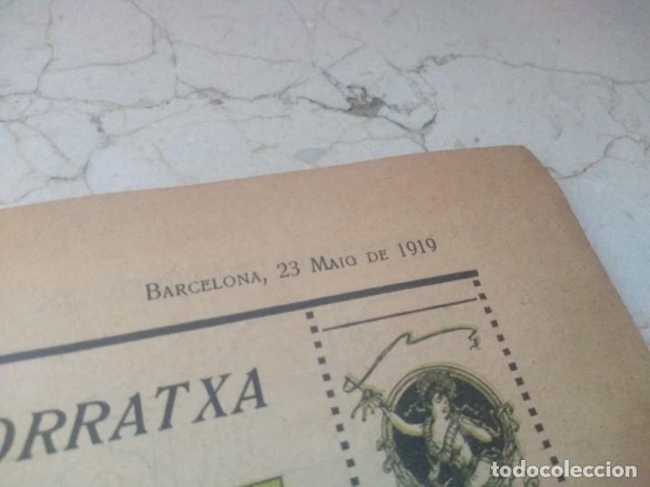Coleccionismo de Revistas y Periódicos: Antiguo LEsquella de la Torratxa.Dedicado al teatro Tivoli. Mayo 1919. - Foto 3 - 280866333