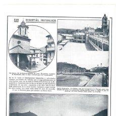 Colecionismo de Revistas e Jornais: 1913 HOJA REVISTA SAN SEBASTIÁN BALNEARIO DE LA PERLA, GRAN CASINO, PLAYA DE LA CONCHA ENTRADA BAHÍA. Lote 283128048